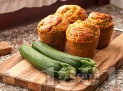 Сладки мъфини с тиквички и канела - снимка на рецептата